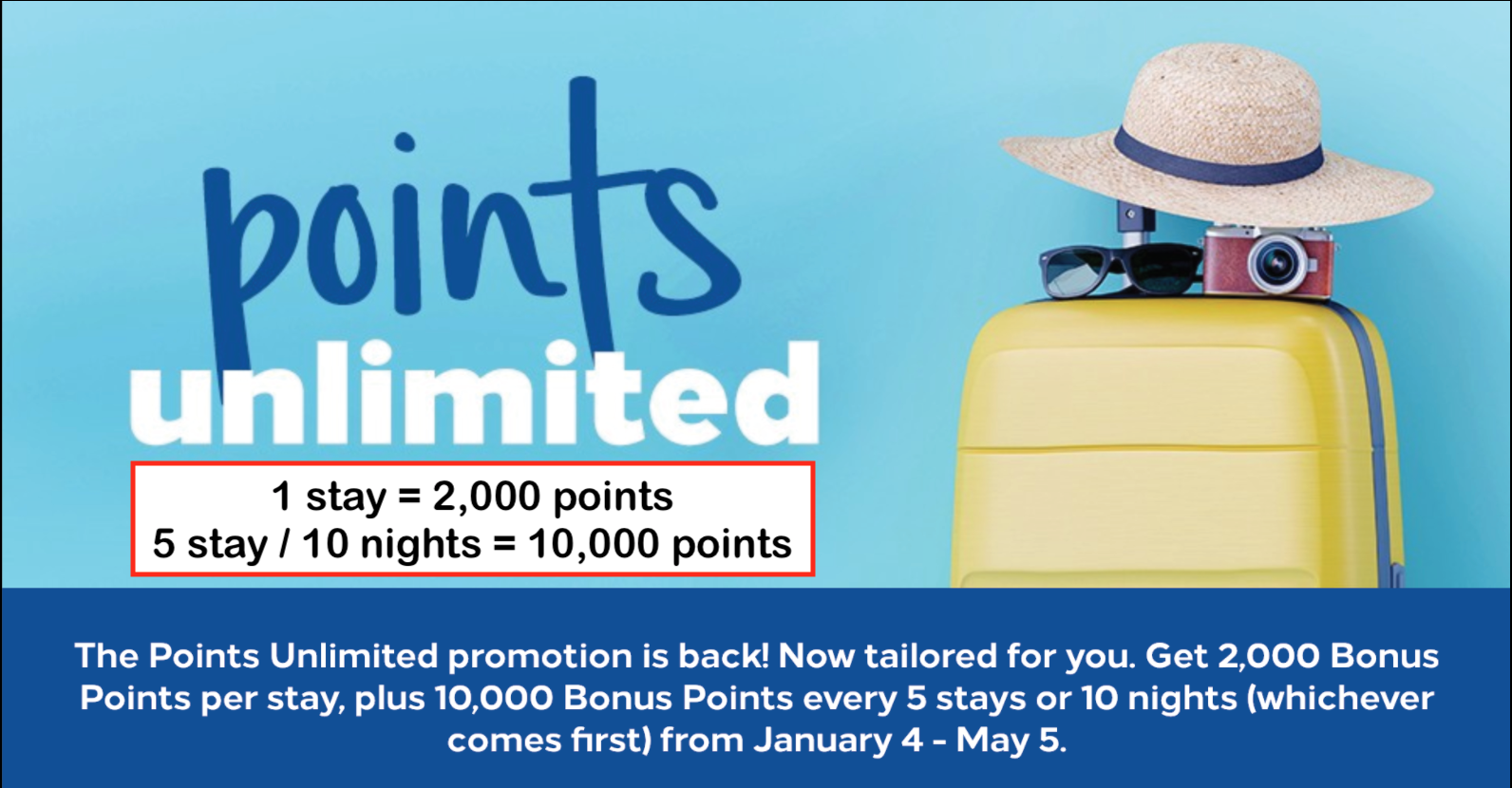 Hilton 希爾頓集團新優惠!1個入住 (stay) 即有2,000 points!每5個Stay或10個nights再多10,000 points!