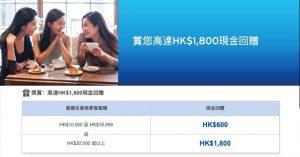 Citi 信用卡特選客戶額外現金回贈優惠